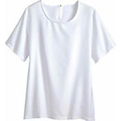 Women's Plus Size Silky-Soft Top, White, Size 2XL