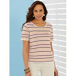 Multi-Stripe Sweater found on MODAPINS from Haband for USD $16.99