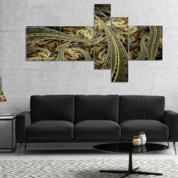 Fabric Pattern Multipanel Abstract Print On