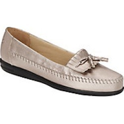 Womens Dr. Scholls Leather Kiltie Tassel Loafers, Bronze, Size 8.5 Wide found on Bargain Bro Philippines from Haband for $39.99