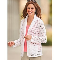 Eyelet Blazer found on MODAPINS from Blair for USD $56.99