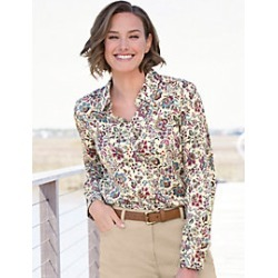 Foxcroft for Appleseed's Jacobean Shirt