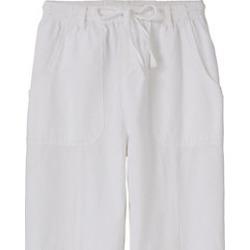 Women's Crinkle Cotton Pants, White, Size 2XL