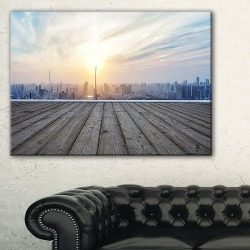 With Empty Wooden Board Canvas Art