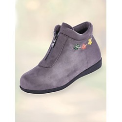 Leaf Embroidered Boots By Beacon found on Bargain Bro Philippines from Blair for $46.99