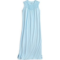 Stretch Knit Sleeveless Nightgown with Lace found on MODAPINS from WinterSilks for USD $29.97
