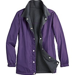 Womens Reversible Jacket, Eggplant, Size M