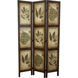 6 Botanic Printed Wood 3 PanelRoom