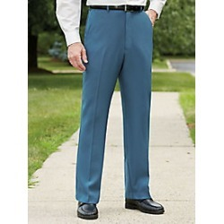 Men's Gabardine Slacks, Slate, Size 34x32 found on Bargain Bro Philippines from Haband for $14.97