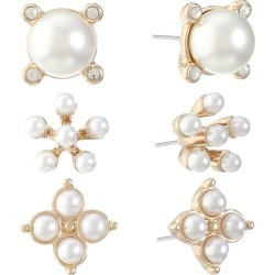 Monet Jewelry 3 Pair White Earring Sets