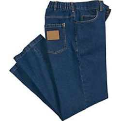 Men's Duke Comfort Jeans, Medium Blue, Size 40 L (31-32) found on Bargain Bro Philippines from Haband for $24.99