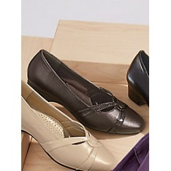 Women's Comfort-Well Swirl Pumps Dress, Brown, Size 9 Wide found on Bargain Bro Philippines from Haband for $22.99