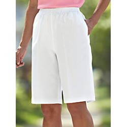 No-Iron Poly Plain Weave Bermuda Shorts found on MODAPINS from Blair for USD $16.99