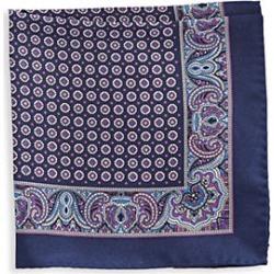 Black Brown 1826 Silk Houndstooth Pocket Square