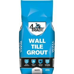 4TRADE White Wall Tile Grout 2kg found on Bargain Bro UK from City Plumbing