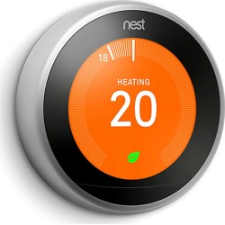 Google Nest Smart Thermostat - Stainless Steel - 3rd Generation found on Bargain Bro UK from City Plumbing