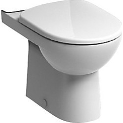 Twyford E11248WH E100 Square Premium Close Coupled WC Pan - 728668 found on Bargain Bro UK from City Plumbing