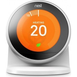 Google Nest Smart Thermostat & Stand - Stainless Steel -3rd Generation found on Bargain Bro UK from City Plumbing
