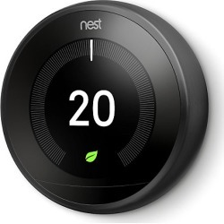 Google Nest Smart Thermostat - Black - 3rd Generation - (without Adapter + USB) found on Bargain Bro UK from City Plumbing