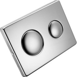 Flush Plate Stainless Steel with logo - 756333 found on Bargain Bro UK from City Plumbing