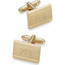 Brushed Metal Engraveable Cufflinks found on MODAPINS from paulfredrick.com for USD $75.00