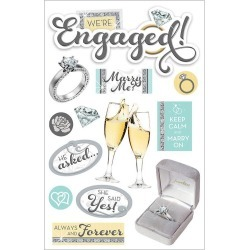 Engaged 3D Stickers - Paper House found on Bargain Bro India from A Cherry On Top Crafts for $4.99