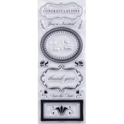 Phrases And Greetings Clear Stamps - Martha Stewart Crafts