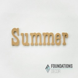 Summer Word Only - Foundations Decor found on Bargain Bro India from A Cherry On Top Crafts for $3.59