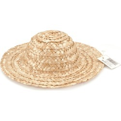 "Natural - Round Top Straw Hat 14"""