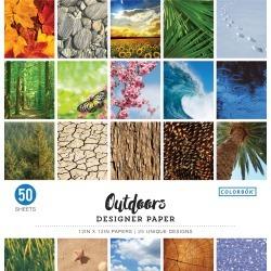 "Outdoors - Colorbok 68lb Designer Single-Sided Paper 12""X12"" 50/Pkg"