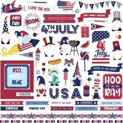 Gnome For July 4th Element Sticker - Photoplay found on Bargain Bro India from A Cherry On Top Crafts for $2.99