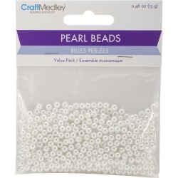 4mm White 480/Pkg - Pearl Beads Value Pack found on Bargain Bro India from A Cherry On Top Crafts for $1.99