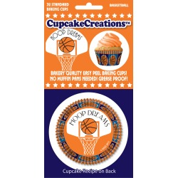 Basketball 32/Pkg - Standard Baking Cups