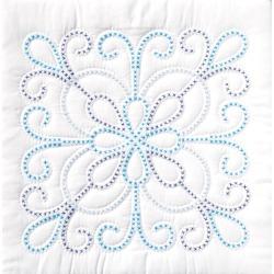 XX Design - Stamped White Quilt Blocks 18