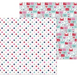 Love You Dots Paper - French Kiss - Doodlebug found on Bargain Bro India from A Cherry On Top Crafts for $0.99