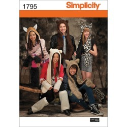 Misses', Men's & Teens' Animal Hats - S - M - L