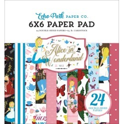 Alice In Wonderland No.2 6x6 Paper Pad - Echo Park - PRE ORDER