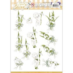 Early Snowdrops - Find It Precious Marieke Early Spring Punchout Sheet