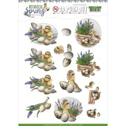 Happy Ducks Punchout Sheet - Botanical Spring - Find It Trading found on Bargain Bro India from A Cherry On Top Crafts for $1.59
