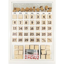 White Frame Magnetic Calendar - Foundations Decor found on Bargain Bro India from A Cherry On Top Crafts for $39.99