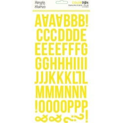 Yellow Foam Alpha Stickers - Simple Stories - PRE ORDER