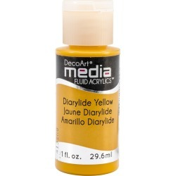 Diarylide Yellow (Series 3) - Media Fluid Acrylic Paint 1oz