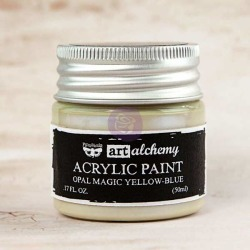 Yellow Blue Acrylic Paint Opal Magic  - Art Alchemy - Finnabair
