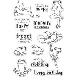 Hoppy Day 4x6 Clear Stamps - Hero Arts found on Bargain Bro from A Cherry On Top Crafts for USD $12.15