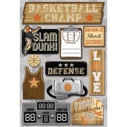 Basketball Champ Cardstock Stickers - Karen Foster