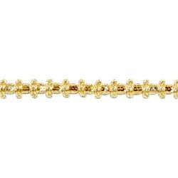 Gold - Simplicity Sequin Bowtie Trim .75
