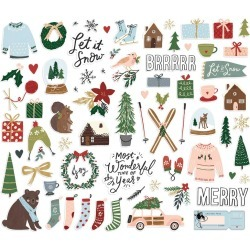 Winter Cottage Bits & Pieces Die-Cuts - Simple Stories found on Bargain Bro India from A Cherry On Top Crafts for $4.99