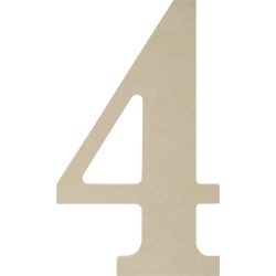 """4 - MDF Classic Font Wood Letters & Numbers 9.5"""""""
