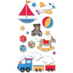 Baby Toys 3D Stickers found on Bargain Bro from A Cherry On Top Crafts for USD $2.27