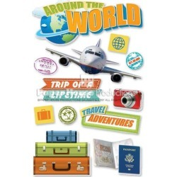 World Travel Stickers - Paper House found on Bargain Bro India from A Cherry On Top Crafts for $4.97